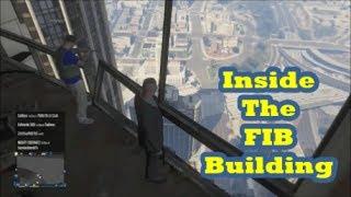 getlinkyoutube.com-GTA 5 Online - How to get Inside the FIB Building Glitch (GTA V)