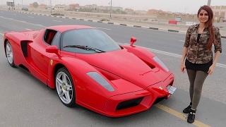 getlinkyoutube.com-Girl Driving $8,000,000 Ferrari Enzo !!!