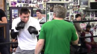 getlinkyoutube.com-Freddie Roach & Ruslan Provodnikov; Mitt Workout COMPLETE UNEDITED Prep for Timothy Bradley