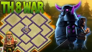 getlinkyoutube.com-LAYOUT GUERRA CV8 |ANTI DRAGON HOG GOWIPE| 2016 - BEST TH8 WAR BASE - CLASH OF CLANS