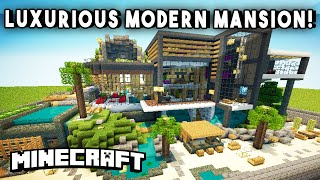LUXURIOUS MODERN MANSION (w/ A Firing Range, Infinity Pool, & Basketball Court)