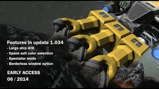 getlinkyoutube.com-Space Engineers - Space suit color selection, large ship drills, spectator mode