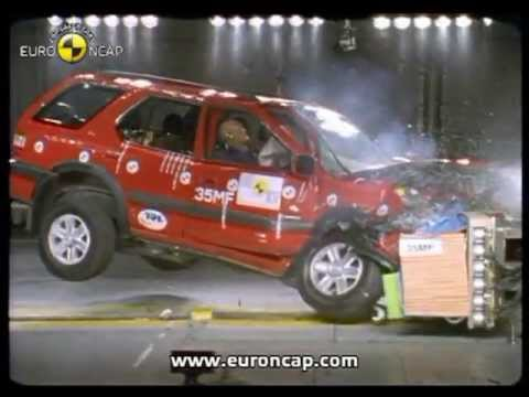 Euro NCAP Opel Vauxhall Frontera 2002 Crash test