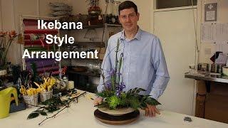getlinkyoutube.com-Ikebana Inspired Arrangement - takes minutes, and minimal material -