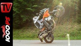 getlinkyoutube.com-KTM 1190 Adventure - Test | 5 Meinungen - 1 Bike | Stunts, Action, Sound