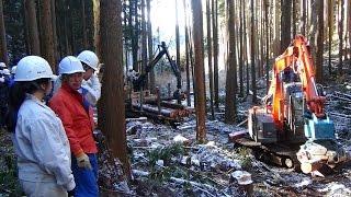 高校生が最新の林業機械の操作を体験