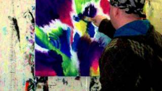getlinkyoutube.com-Passionate feelings- live painting abstract expressionism painting
