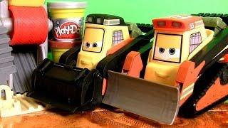 getlinkyoutube.com-Play Doh Brick Mill Diggin' Rigs Disney Planes2 Avalanche & Drip Talking Trucks Fire & Rescue Dough