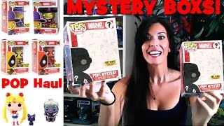 getlinkyoutube.com-Funko Pop Mystery Box DEADPOOL wave 2  Stingray + Madcap + Slapstick + Chase Metallic