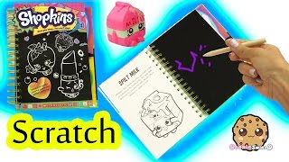 getlinkyoutube.com-Shopkins Season 1 Sketch Surprise Scratch Drawing Art Book Scratching Cookieswirlc