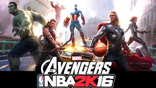 getlinkyoutube.com-NBA 2K17 / 2K16 Avengers vs Justice League Mod Preview - 60 FPS HD