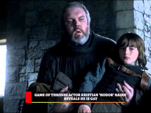 HIP TV NEWS - GAME OF THRONES ACTOR KRISTIAN 'HODOR' NAIRN REVEALS HE IS GAY