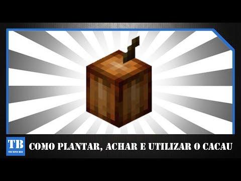 COMO PLANTAR, ACHAR E UTILIZAR O CACAU - MINECRAFT