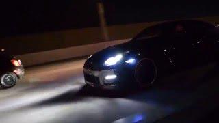 getlinkyoutube.com-Subaru WRX STI chasing down a Nissan GTR