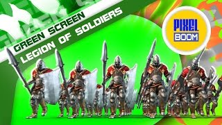 Green Screen Legion of Soldiers March Victory - Footage PixelBoom