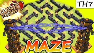 "getlinkyoutube.com-Clash Of Clans | ""ULTIMATE TH7 MAZE BASE!"" 