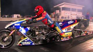 "getlinkyoutube.com-Top Fuel Nitro Motorcycle Import vs Harley - Larry ""Spiderman"" Mcbride 5.83et @ 232mph"