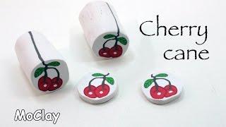 getlinkyoutube.com-How to make a cherry polymer clay cane - DIY