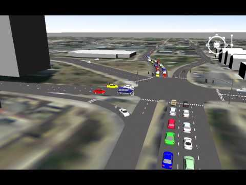 New Bedford - Octopus Intersection 3D TransModeler Simulation