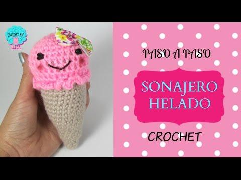 Tutorial Helado sonajero a crochet