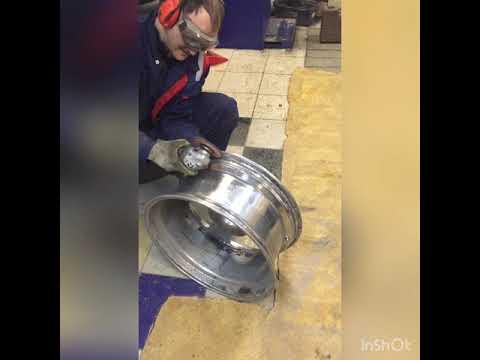 Лексус LX570 ремонт дисков и устранение травли воздуха с баллонов