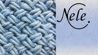 getlinkyoutube.com-Flechtmuster - Muster stricken - basket weave - criss cross stitch - DIY by NeleC.