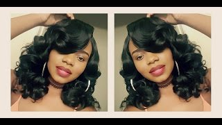 getlinkyoutube.com-Styled to Perfection! Vivica A. Fox Deeep Lace Wig SERENITY