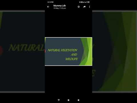 Class 9 Natural Vegetation and wildlife part 2
