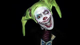 getlinkyoutube.com-Creepy Clown / Jack in the Box makeup tutorial