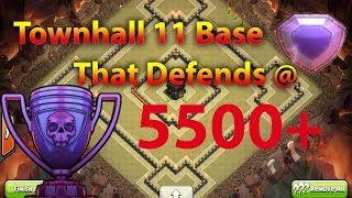 Clash Of Clans - The Best New Townhall 11 War / Trophy Base That Will Take You To Legend League