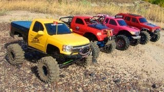 RC ADVENTURES - 4 SCALE RC 4x4 TRUCKS in ACTiON - on MARS? Nope - EARTH! TEAM W3RK!