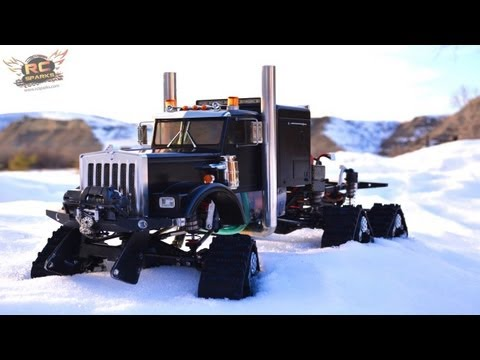 RC ADVENTURES - HD OVERKiLL - The JUGGERNAUT - 6WD Tracks, 5 Motors, 5 ESC's, PURE POWER SEMi TRUCK