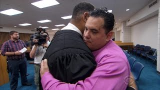 Judge spends night in jail with man he sentenced