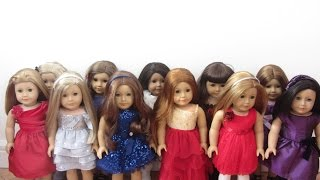 getlinkyoutube.com-Dressing My American Girl Dolls In Their Holiday Outfits.