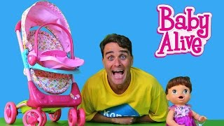 getlinkyoutube.com-My New Baby Alive Stroller !  || Toy Review || Konas2002