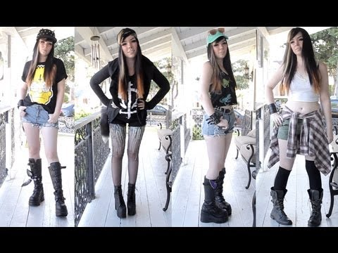 Summer of Grunge LookBook! 4 Outfits!