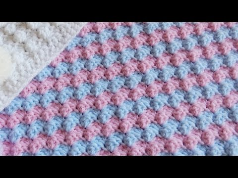 How to Crochet a Mixed Grit Stitch Variation or Half Shell Ripple Stitch