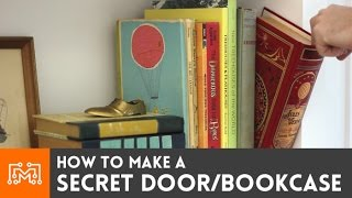 getlinkyoutube.com-How to make a secret door / bookcase