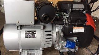 getlinkyoutube.com-★★ทดสอบเครื่องปั่นไฟ Single Phase 12 KW ต่อเครื่องยนต์เบนซิน HONDA GX690★★