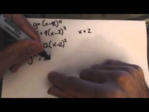 Nth Derivative Test Problem 2b