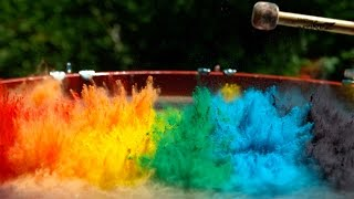 getlinkyoutube.com-Paint on a Drum in 4K Slow Mo - The Slow Mo Guys