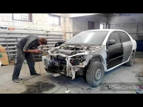 Тойота королла кузовной ремонт и покраска. Toyota Corolla. Body repair