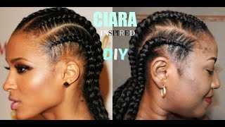 getlinkyoutube.com-DIY JUMBO CORNROWS   **CIARA INSPIRED**