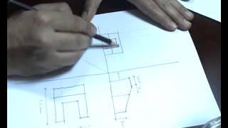 كيفية استنتاج المسقط الثالث والمجسم ( الأيزومتريك ) ...