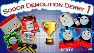 getlinkyoutube.com-Sodor Demolition Derby 1 | Thomas and Friends Trackmaster | Strongest Engine