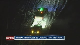 Lenexa teen pulls 53 cars out of snow
