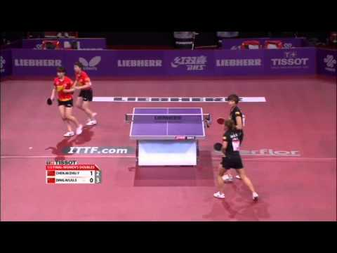 WTTC 2013 Highlights: Ding Ning/Liu Shiwen vs Chen Meng/Zhu Yuling (1/2 Final)