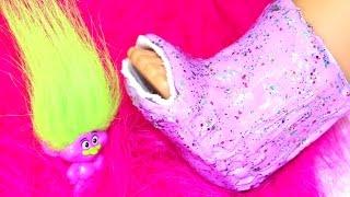 getlinkyoutube.com-Doll Cast DIY | American Girl Doll Crafts