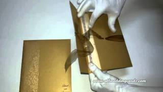 [W-4520, Rust Gold Color, Shimmer Paper, Hindu Invitations, U...] Video