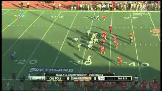 FCS Playoffs 2nd Rd Cal Poly O vs Sam Houston State D 2012